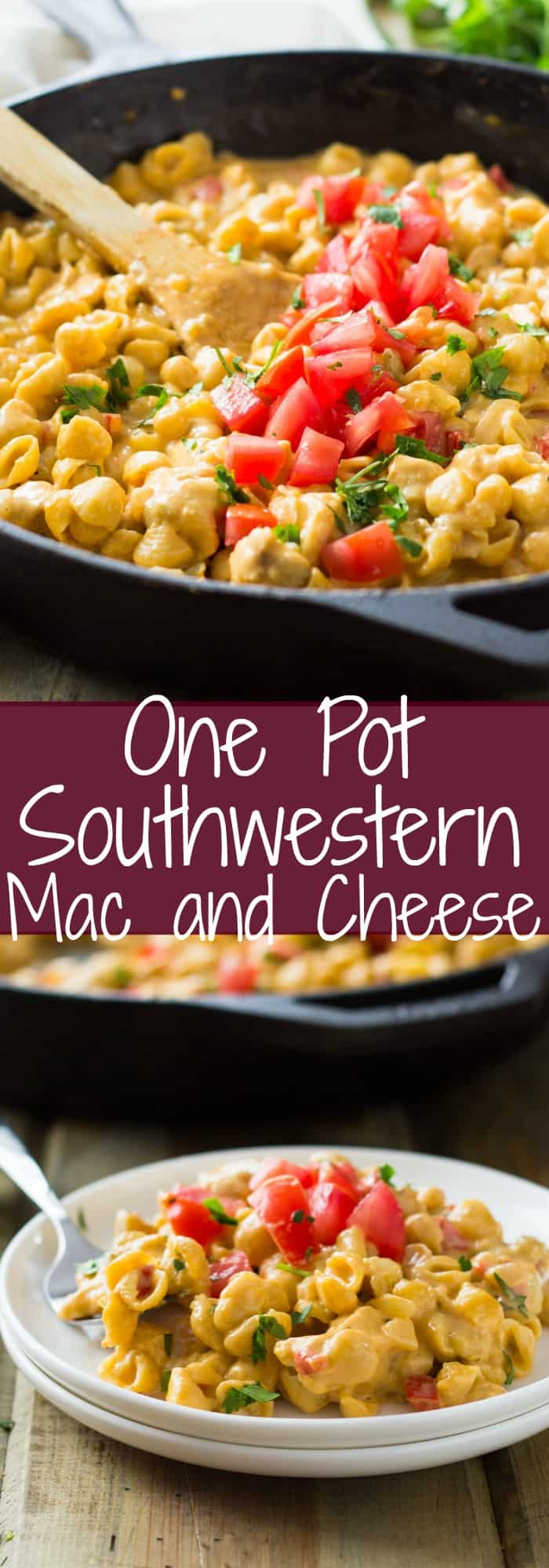 One Pot Southwestern Chicken Macaroni and Cheese is a quick, easy and super delicious meal! It's macaroni and cheese kicked up a notch.
