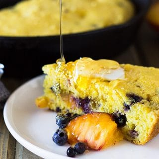 Blueberry Peach Cornbread
