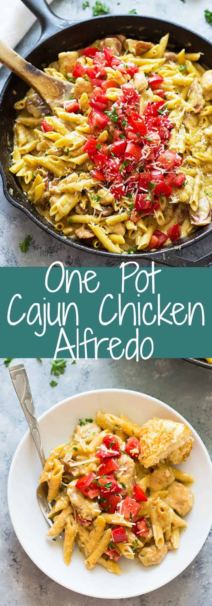 One Pot Cajun Chicken Alfredo is a quick and easy 30 minute meal that is full of flavor! | www.countrysidecravings.com