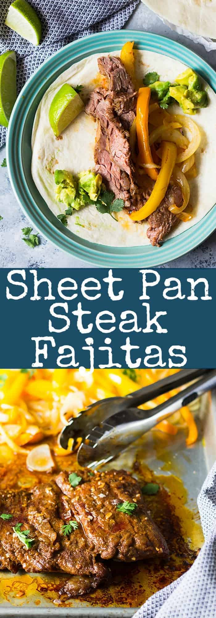 Easy Sheet Pan Steak Fajitas are super easy, flavorful and sure to become a favorite!! | www.countrysidecravings.com
