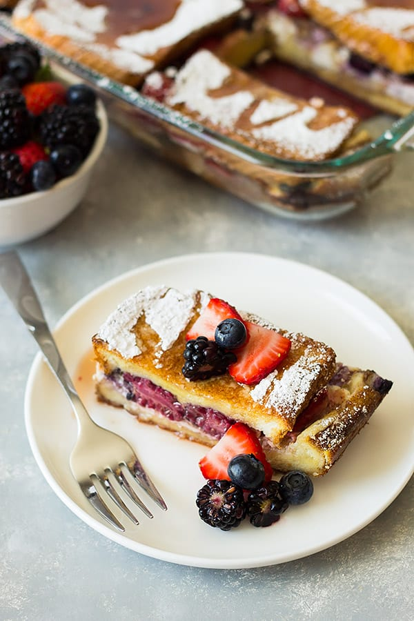 Triple Berry French Toast Casserole | Countryside Cravings