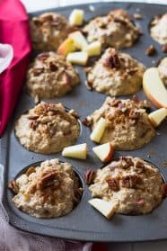 These Apple Cinnamon Freezer Oatmeal Cups are a warm and hearty breakfast made in just a few minutes!! | www.countrysidecravings.com