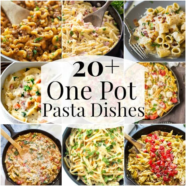 20+ One Pot Pasta Dishes for fast comfort food any day of the week! | www.countrysidecravings.com