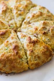 Savory Ham and Cheddar Scones that are easy to make and perfect for breakfast, snack time or with a steaming bowl of soup!   www.countrysidecravings.com