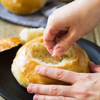 Homemade Italian Bread Bowls