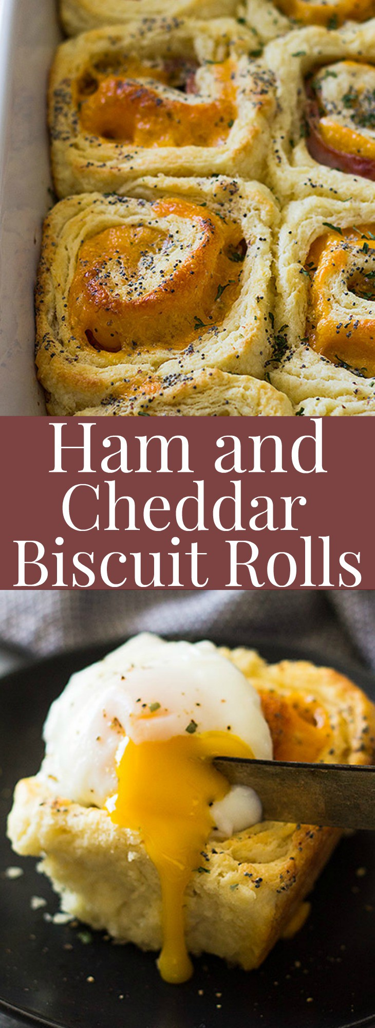 These Ham and Cheddar Biscuit Rolls are made with homemade biscuit dough, ham, cheddar and topped with a yummy glaze! | www.countrysidecravings.com