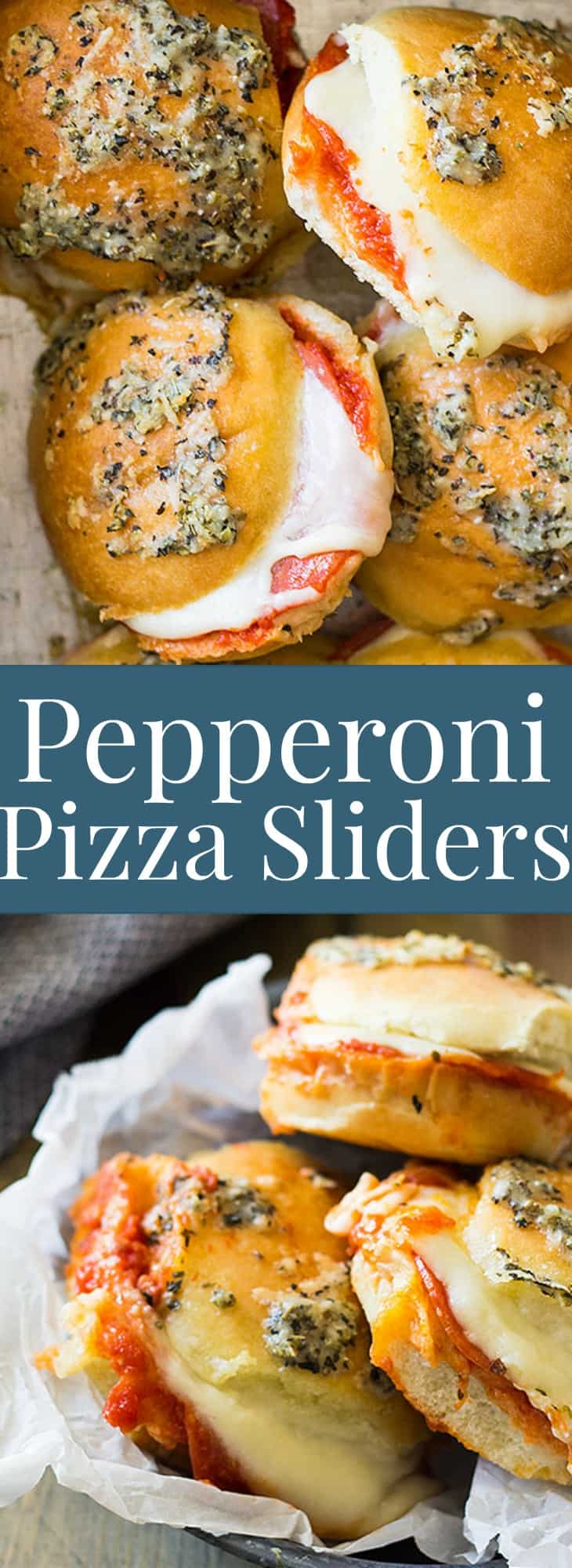 These Pepperoni Pizza Sliders are filled with ooey gooey cheese, pasta sauce and of course pepperoni! Perfect for entertaining! | www.countrysidecravings.com