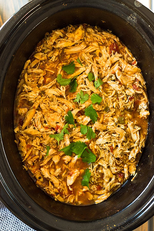 Slow cooker shredded mexican chicken countryside cravings slow cooker shredded mexican chicken forumfinder Gallery
