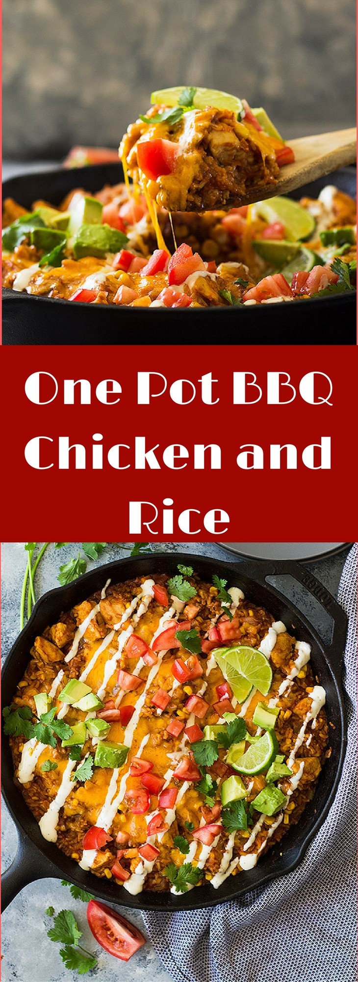 This One Pot BBQ Chicken and Rice is a quick and easy meal the whole family will love! Full of flavor, hearty and satisfying. | www.countrysidecravings.com