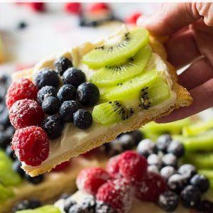 Pinterest image for fruit pizza