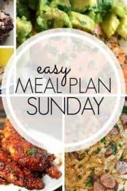 Easy Meal Plan Sunday week 96