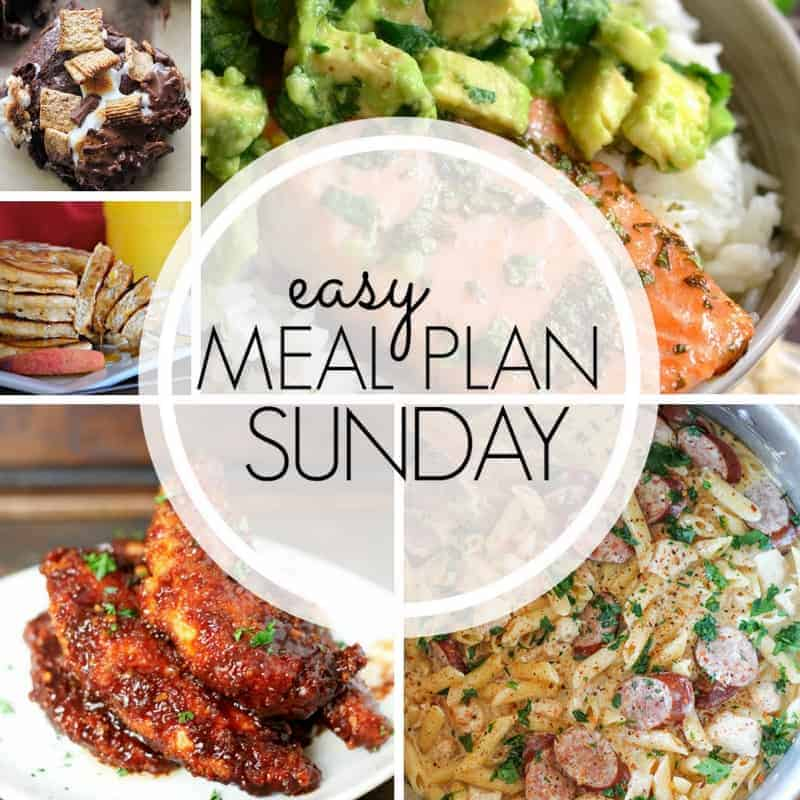 Easy Meal Plan Sunday week 96
