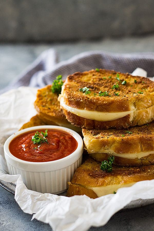This Italian Grilled Cheese Sandwich is filled with ooey gooey Provolone! It's a perfect quick and easy lunch or dinner!
