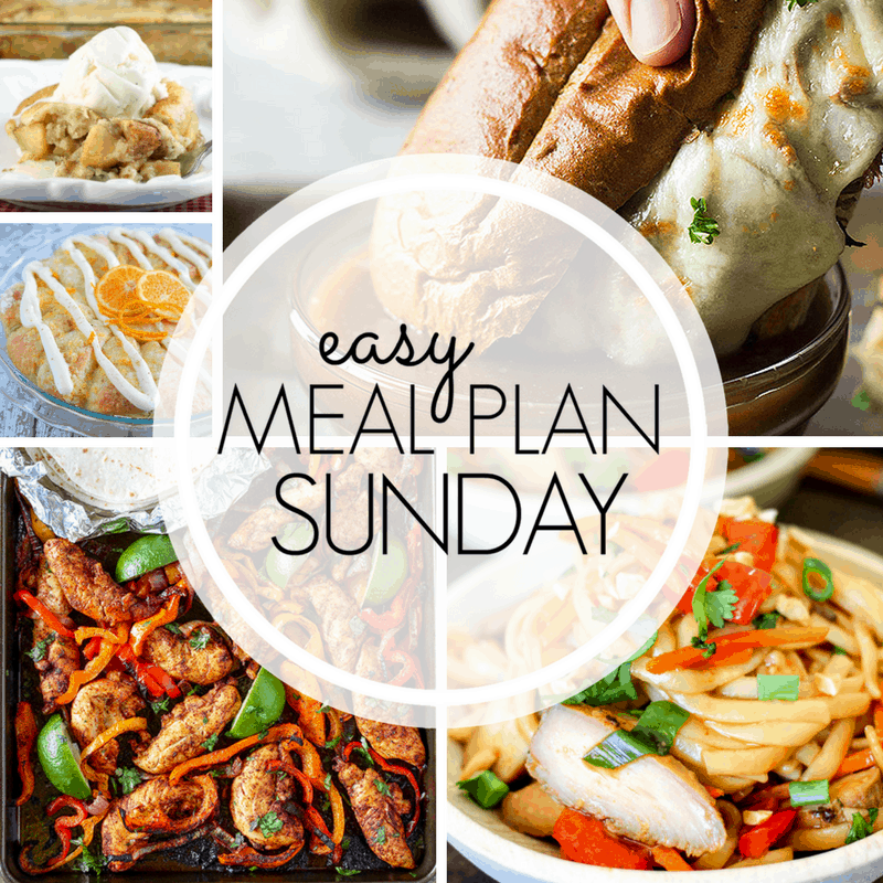 Easy Meal Plan Sunday week 1
