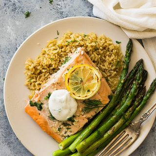 Simple Sheet Pan Salmon and Asparagus
