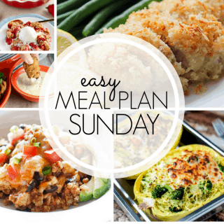 Easy Meal Plan Sunday (week 98)
