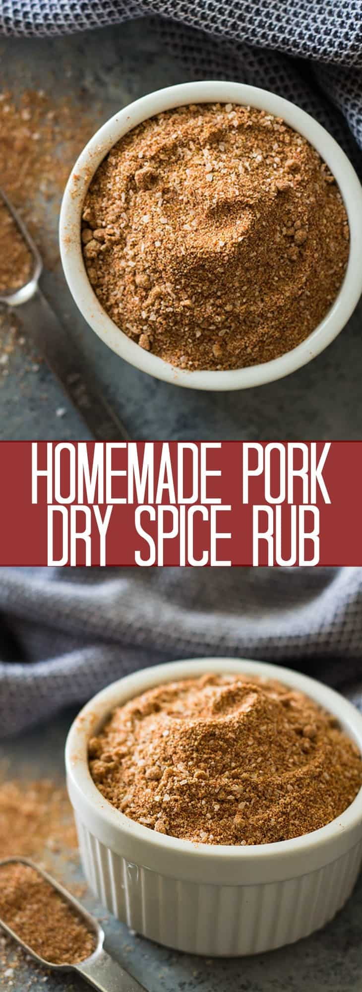 This Homemade Pork Dry Spice Rub is the perfect balance of sweet and spicy, it also goes great on chicken and is perfect for grilling!