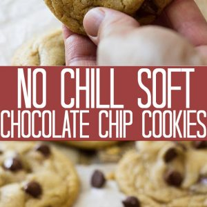 Pinterest graphic for soft chocolate chip cookies