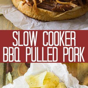 how to recipe images with text overlay for slow cooker bbq pulled pork