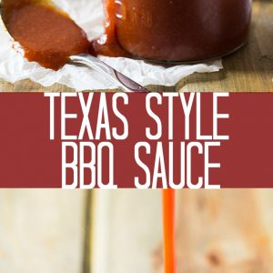 Pinterest graphic for Texas style BBQ sauce