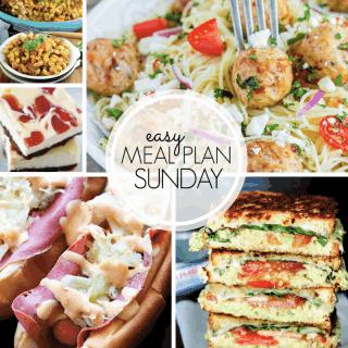 Easy Meal Plan Sunday (week 101)