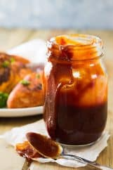 This Kansas City Style BBQ Sauce is rich, thick, sticky and sweet. Perfect for all your grilling needs this summer!