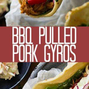 bbq pulled pork gyros pinterest image