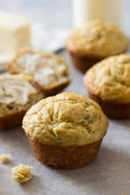 These Easy Banana Muffins are easy to make and kids love them! They are loaded with banana flavor and make a great breakfast!