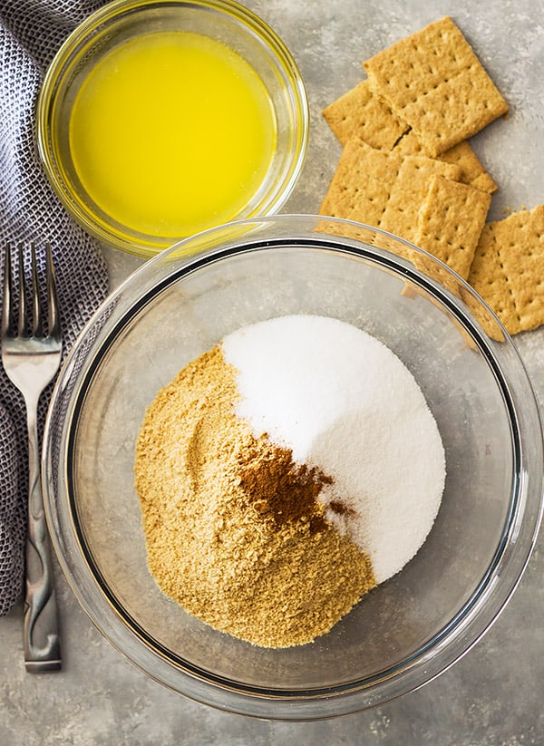 This simple Homemade Graham Cracker Crust is a great alternative to those store bought crusts.  It is easy to make and tastes a whole lot better!