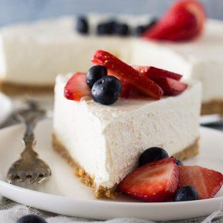 No Bake Vanilla Cheesecake