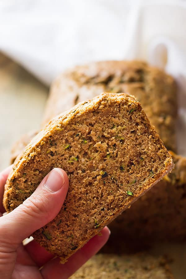 This moist easy zucchini bread will become your go to recipe! It's easy to make, loaded with freshly grated zucchini and warm fall spices.