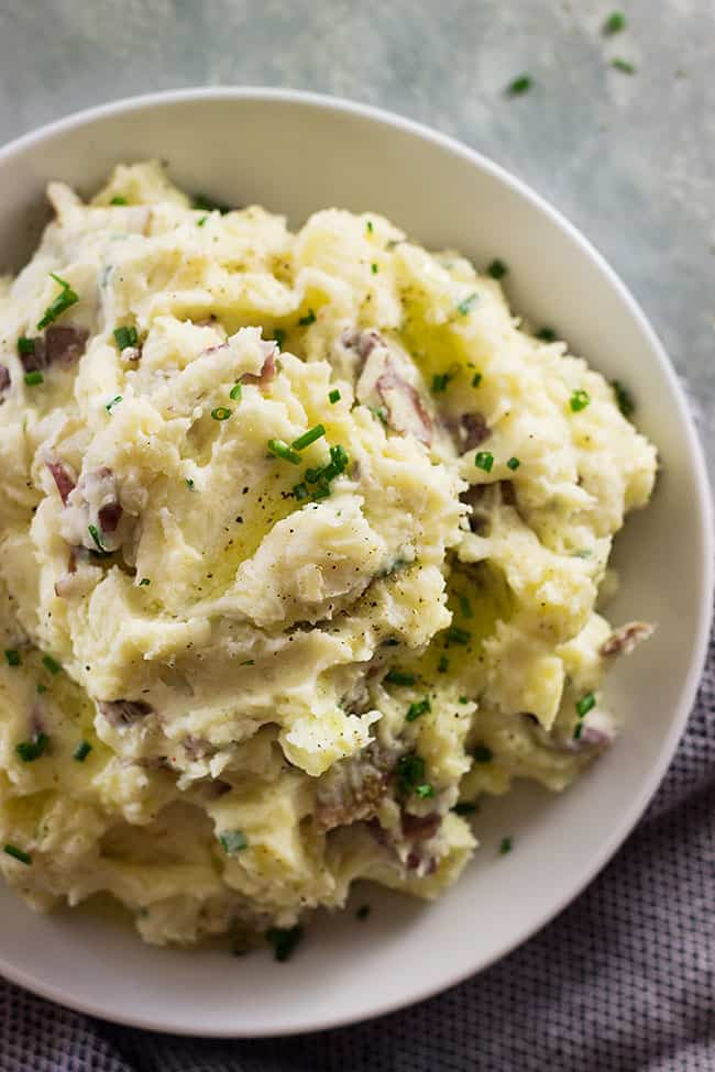 The Easiest Mashed Potatoes are perfect for any gravy or braised meats! Rustic, creamy and easy to make!