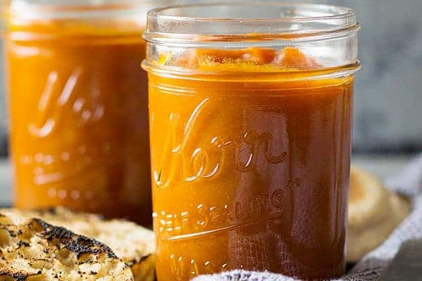 This easy to make Homemade Pumpkin Butter is a great fall time treat. It's filled with spice and naturally sweetened!