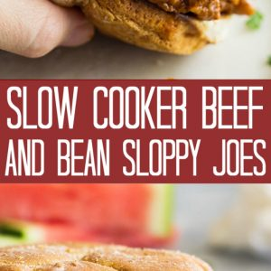 slow cooker beef and bean sloppy joes pinterest