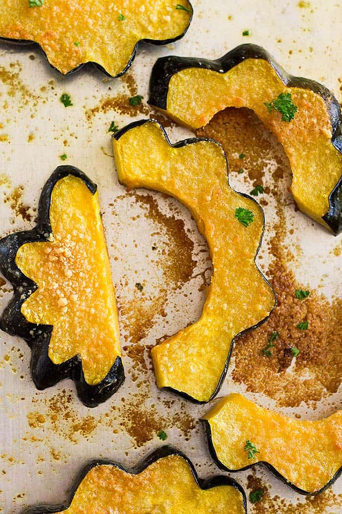 This Parmesan Roasted Acorn Squash even uses the seeds! It's