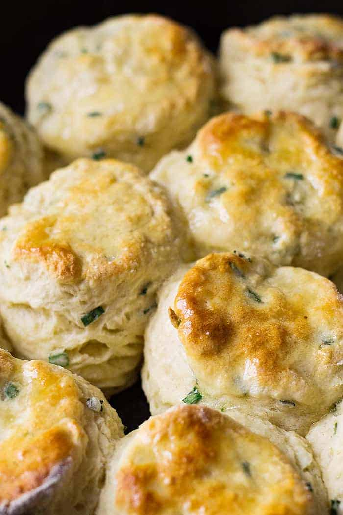 These Buttermilk Chive Biscuits are soft, tall, buttery and easy to make! And with the addition of chives it makes them extra special!