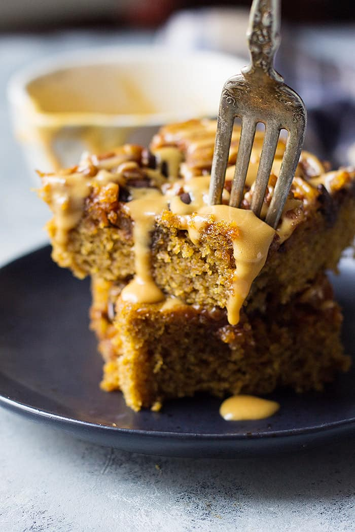This Turtle Pumpkin Cake is great for something a little different. The chocolate, pecans and caramel all go beautifully with pumpkin.