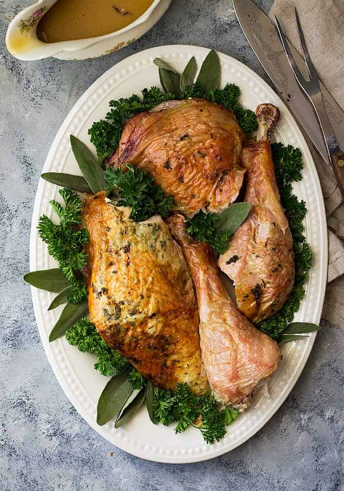 Butterflied Roasted Herb Turkey Countryside Cravings