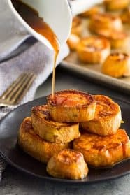 These Roasted Sweet Potatoes with Cinnamon Glaze are the perfect side dish for those that want something a little special!. They are tender, healthy, and lightly sweet with a touch of honey.