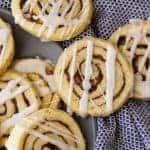 These Cinnamon Roll Cookies have all the flavor of a cinnamon roll without the yeast and rising! Complete with icing too!