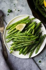 These Skillet Garlic Green Beans are a quick and easy side dish. They go great with many meals plus, they are healthy!