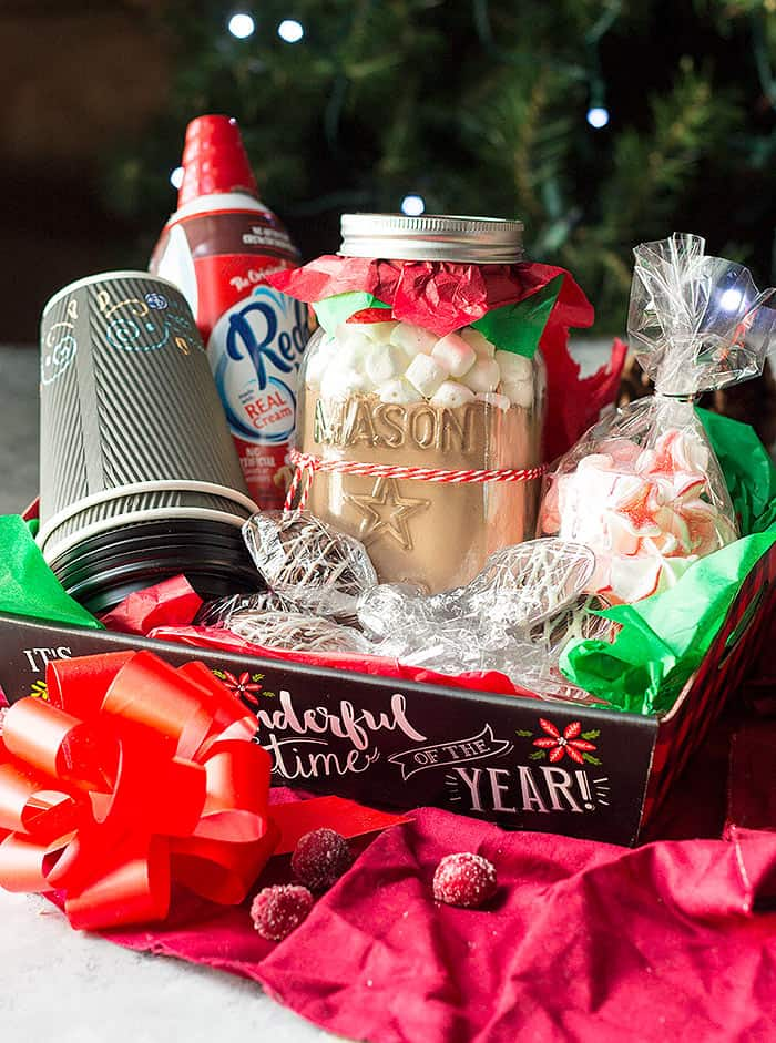 diy christmas gift baskets hot chocolate lovers gift basket