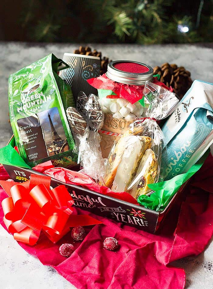 diy christmas gift baskets coffee lovers gift basket