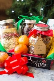 These DIY Christmas Gift Baskets are the perfect gift for all your foodie people or those that have everything already.