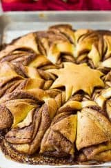This Brioche Cinnamon Snowflake will be the talk of the breakfast or brunch table! It's stunning, fluffy, rich, tender, and filled with cinnamon sugar.