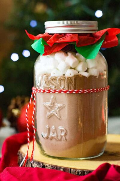 This Homemade Dark Chocolate Hot Cocoa Mix is rich, creamy, and makes the best hot chocolate! You'll never buy the store bought mix again!