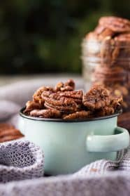 These Sweet and Spicy Pecans are easy to make and super addictive! They are great for a snack, appetizer, and even great for gifting!!