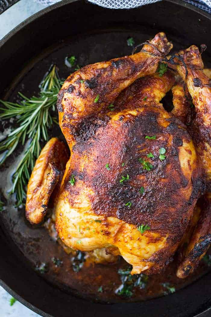 This Homemade Oven Roasted Rotisserie Chicken Is Super Easy To Make Great For A Sunday Dinner Or Meal Prep Use Throughout The Week