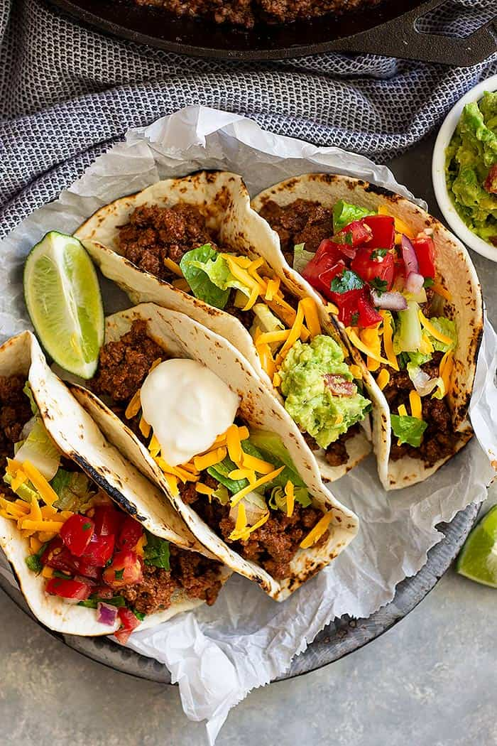 Homemade Ground Beef Taco Meat -this is a great taco meat recipe that's great for tacos, burritos, or even nachos!