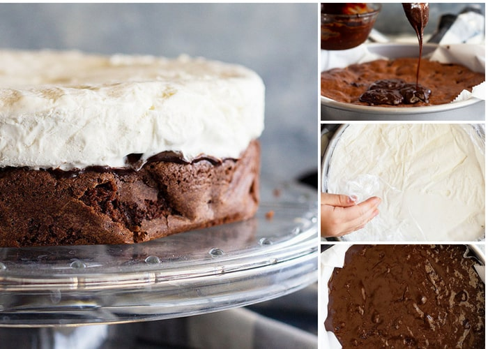 This Brownie Ice Cream Cake is a basic recipe with lots of suggestions to take it to the next level. #brownie #icecream #cake